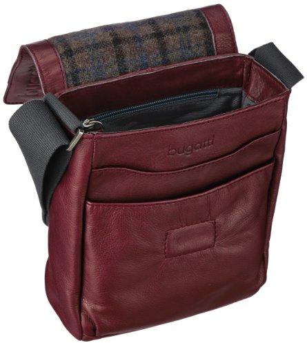 Bugatti Bags  Borsa Messenger, 3 L, Blu Rosso