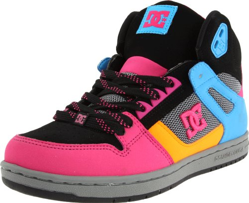 DC Shoes Rebound HI Womens D0302164, Sneaker donna Grigio (Grau/Dark Shadow/Crazy Pink)