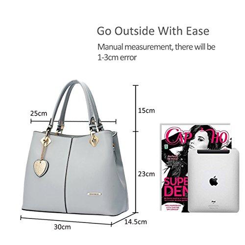 NICOLE&DORIS Neue Mode Damen Handtaschen Umhängetasche Tasche Crossbody Tasche PU Grau Grau