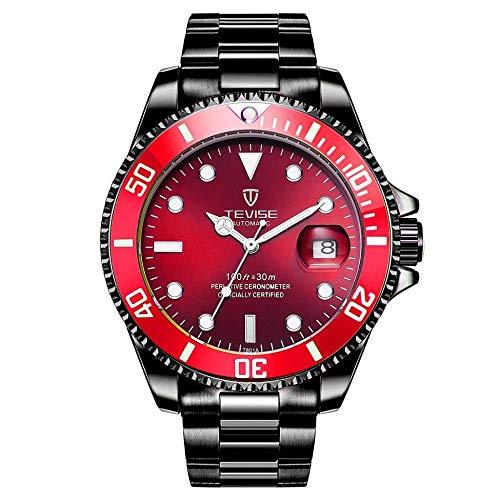 TEVISE T801 Men Automatic Mechanical Watch Moda impermeabile luminoso...