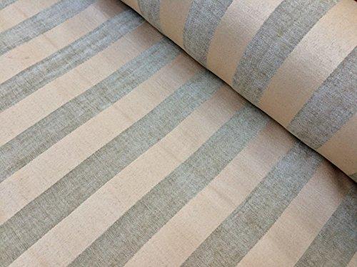 Grau Beige gestreift Jacquard Chenille Stoff Streifen Material Polster, Chenille Material 140cm/55'breit (Meterware) (Streifen-polster-vorhänge-stoff)