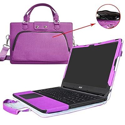 """Etui de protection en cuir PU et aussi comme un sac portable Coque Sacoche Pochette en désigné spécialement pour 15.6"""" Acer Aspire ES 15 Portable Notebook"""