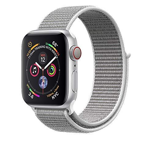 Corki für Apple Watch Armband 38mm 40mm, Weiches Nylon Ersatz Uhrenarmband für iWatch Apple Watch Series 4 (44mm), Series 3/ Series 2/ Series 1 (42mm), Muschel