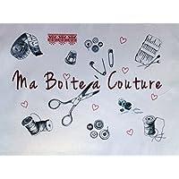 La Boîte à Broder COU051RGMB - Scampolo di tessuto stampato con dicitura in francese