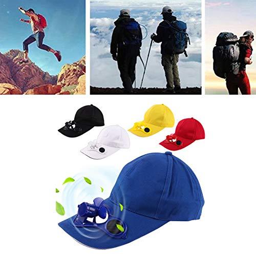 Solar-cool Cap (beautijiam Sommer Sport Outdoor Hat Cap Mit Solar Sun Power Cool Fan Für Radfahren Angeln Weiß)