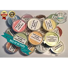 #P20 - paleta - caja de 20 botes de 30 ml pinturas base de tiza de colores, 20 x 30 ml pintura de tiza para los muebles, muestras pintura de tiza para interior
