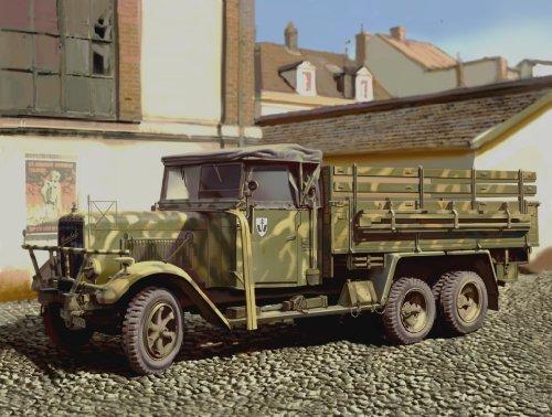 1/35 German Henschel 33D1 6 wheels Cargo Track (Plastic model)