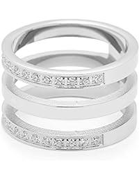 Leonardo Jewels Damen-Ring Minimo Edelstahl Glas