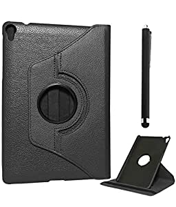 DMG Full 360 Rotating Stand Cover Case for HTC Google Nexus 9 (Black) + Stylus