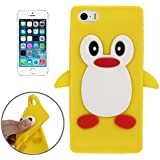 Coque silicone cartoon Pingouin pour iphone 5 et iphone 5S jaune