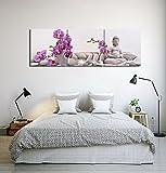 LB Zen,Velas,Buda,Piedras de Masaje,orquídeas,púrpura_Imagen sobre Lienzo Decoración para el...