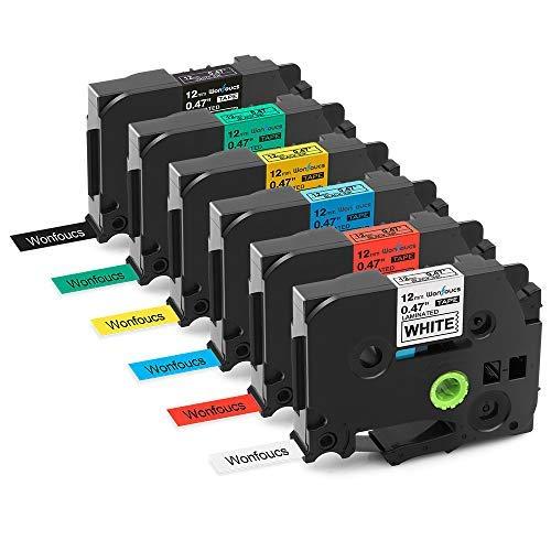 6x TZe Tape Compatibile Brother P-Touch Nastri per etichette TZe-231 Standard Laminato Nastro, 12mm x 8m - Compatibile con PT-H105 PT-H100 PT-1005 PT-1000 PT-1010 PT-1080 PT-H101c