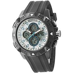 UPhasE Quartz Watch with White Dial Analogue-Digital Quartz Chronograph, 701-200 up