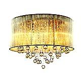 GYH Leuchter Moderne Stoff Mode romantische Schlafzimmer Lampe Wohnzimmer Lampe Decke Kronleuchter Hochzeit Kristall Lampe Kronleuchter (größe : 4 lamp holders)