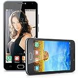 Blackview BV2000 5.0'' Android 5.1 Dual SIM Unlocked 4G FDD-LTE Smartphone - 1GB/8GB MT6735P Quad Cores 3G WCDMA Cellphone 1280*720 Dual Cameras Hotspot WIFI GPS SIM-Free Phablet (Gray)