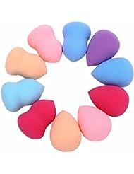 SHOBDW Nouveaux 10pcs Maquillage Pro Beauté Blender visage Fondation Puff multi Shape Éponges