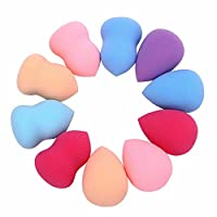 10 Pcs Cosmetic Makeup Blender Foundation Puff Latex Gourd-Shaped Three-Dimensional Make Up Sponges wedges Silicone Pad for foundation Blending Egg Tool Foam Mumustar