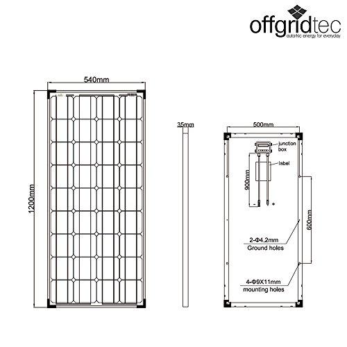 2x Offgridtec® 100W 12V Mono Solarpanele – Solarmodul Solarzelle Photovoltaik - 5