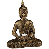 Something Different Grande Thai Buda té luz Ornament, color dorado y bronce