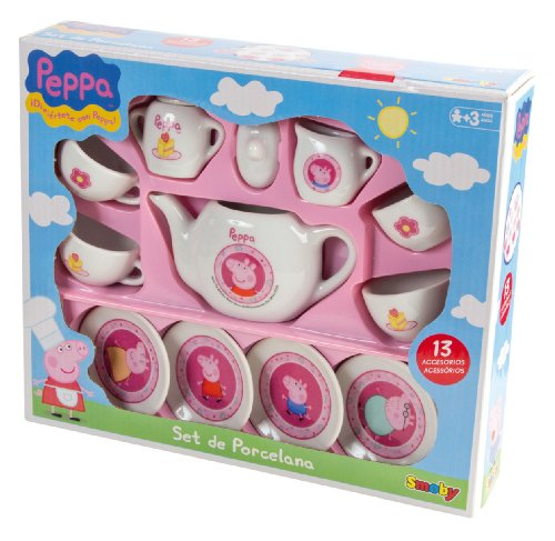 Smoby 7600024254 - Peppa Pig Tea Set Porcellana
