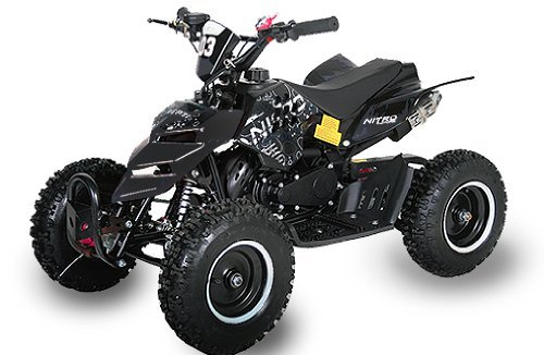 Mini ATV Quad Repti 6 Zoll Reifen Miniquad Kinderquad Cross Pocketquad Schwarz