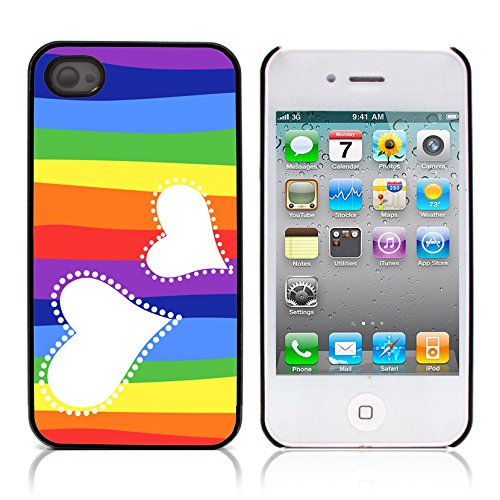 Graphic4You I Am Here With You Niedlich Ehepaar Regen Liebe Regenschirm Design Harte Hülle Case Tasche Schutzhülle für Apple iPhone 4 und 4S Design #4