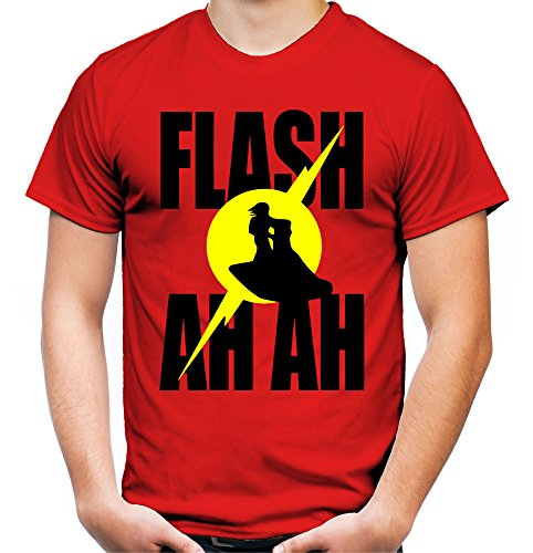 Flash Gordon Ah Ah Männer und Herren T-Shirt | Spruch Comic Retro Kult Geschenk (XL, Rot)