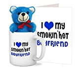 #10: TiedRibbons® Valentine's Day Gifts for Boyfriend Coffee Mug(325ml) with Teddy and Greeting card