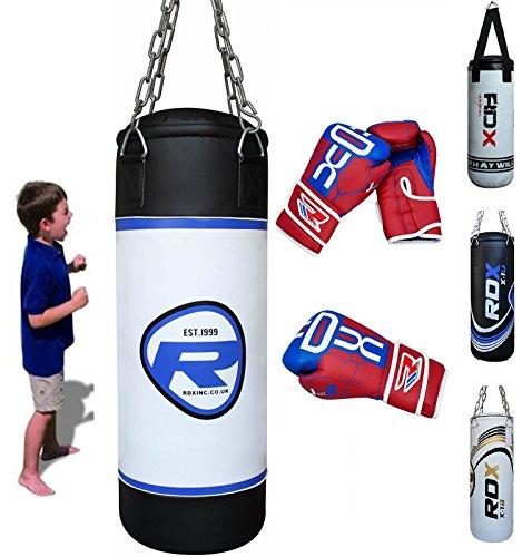 RDX MMA Kinder Boxen Sack 2FT Junior Boxsack Set Kickboxen Sandsack Training Gefüllt Gewicht