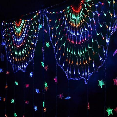 FDH  347 luce netta 2m*0.8M LED schermo colore luce lampada illumina il Peacock NET wedding Natale luci lampeggiano