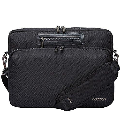 """Cocoon BUENA VISTA - 13"""" Laptop Messenger Bag zum Reisen mit Organisationssystem / Praktische Umhängetasche für Laptops / Schultertasche für Tablet, Laptop / Wasserabweisend / Schwarz - 13"""" Zoll"""