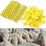 100 Teile / satz Schafe Ziege Schwein Schwein Rind Rindfleisch Kuh Vieh Ohr Anzahl Tag Bauernhof Tier Zubehör