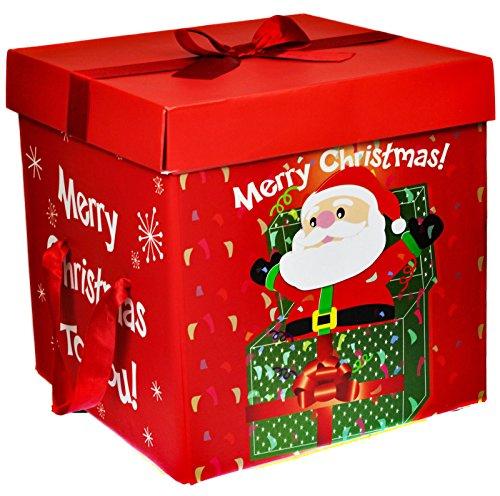 Scatole Per Regali Di Natale.Scatola Grande Per Impacchettare Regali Di Natale Con Coperchio E