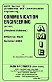 AMIE - Section (B) Communication Engineering ( EC-403) Electronics and Communication Engineering Solved and Unsolved Paper