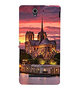 Fuson Designer Back Case Cover for Sony Xperia C3 Dual :: Sony Xperia C3 Dual D2502 (Castle Fort Fortress citadel Fortification)