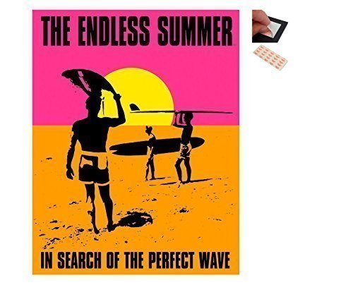 bundle-2-items-the-endless-summer-perfect-wave-32-x-41-cms-12-x-16-inches-and-a-set-of-4-repositiona
