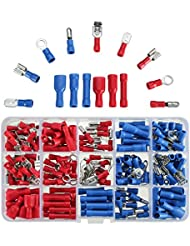 Excellway Ec06 200Pcs Assorted Crimp Conectores De Cables