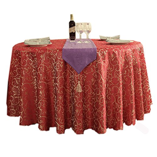 elgant-tablecloth-94-inch-circular-tablecloth-with-chain-link-fence-red