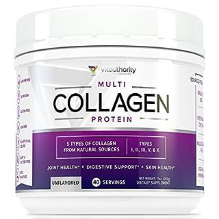 Multi Collagen Peptides Powder: 40 srv Anti Aging Super Youth Powder with Hydrolyzed Collagen Protein from Grass-Fed Beef, Wild Marine, Chicken, Eggshell, Type I II III V X Keto Collagen Supplement