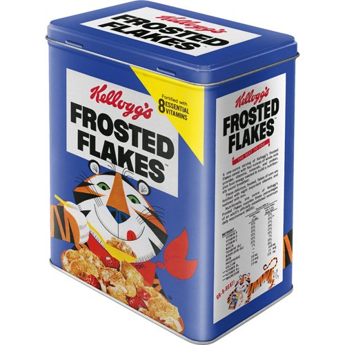 Nostalgic-Art 30127 Kellogg's Frosted Flakes Tony Tiger blue, Vorratsdose L