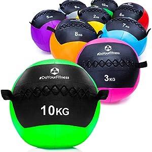 #DoYourFitness® Wall-Ball/Gewichtsball ab 2kg bis 10kg – Medizinball mit griffiger Oberfläche ideal für Ausdauertraining, Crossfit, Functional-Training, Kraftraining & Core-Stabilität Adria