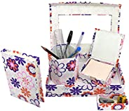 Surprise Someone Handmade Paper Eco friendly Office Desk Organizer Set of 5 Items for Study Table