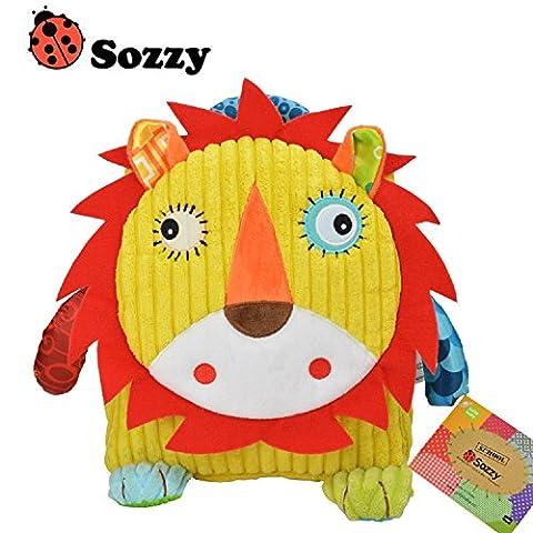 RockFoxOutlet 3D Cartoon animal infant backpack / shoulder bag / snack bag / kindergarten shoulder bag/Children bag / backpack / preschool bag ,6 styles (Lion)