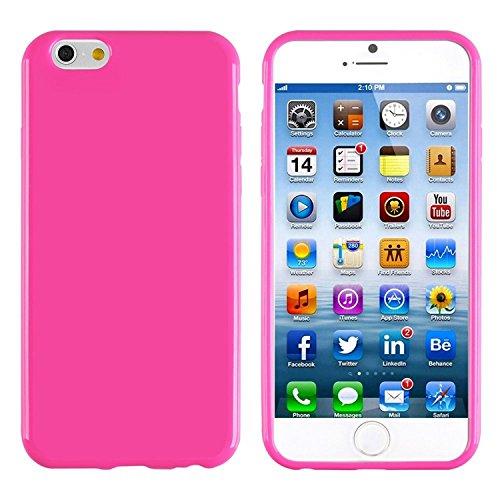 ChannelExpert TPU Hülle case Tasche Bumper Etui Cover Schutzhülle Schutzcover Handyhülle gelb Jelly für Apple iPhone 6 / 6S Pink