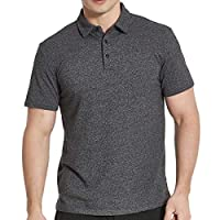 Men's Cotton Golf Polo T-Shirts, Short Sleeve Athletic Workout Shirt, Darkgray S