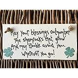 Little Miss Scrabbled–May Your Blessings Out número la Shamrocks–Placa personalizada amistad regalos para ella–el día de San Patricio