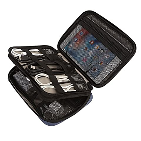 BAGSMART Double-layer Travel Cable Organizer Electronics Accessories Cases for Hard