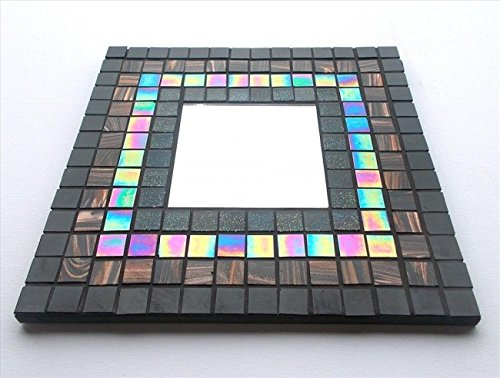 Mosaic Mirror kit Large 30 x 30cm Galaxy. Mosaic Arts and Crafts Mirror kit for Children, Adults, Schools. Vitreous, Iridescent, Porcelain tile hobby kits for Beginners and Professionals alike.