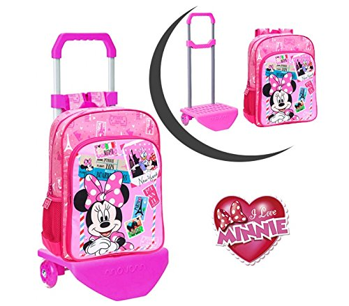 Media wave store 40723m1 zaino scuola carrellino minnie & daisy trolley disney junior 30 x 40 x 16 cm