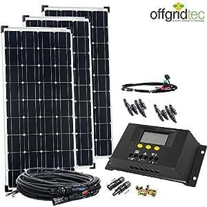 300 Watt Solaranlage / Solarset mit Laderegler und Kabel